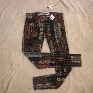 NWT Etienne Marcel Jean Aztec Print Skinny 28 $264